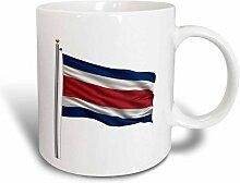 3dRose Fahnenmast mit Flagge von Costa Rica, in