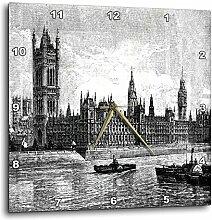 3dRose Famous London Big Ben Wanduhr, 38,1 x 38,1