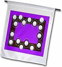 3drose FL _ 108438_ 1Volley-Garden Flagge, 12, Violett, von 18