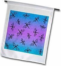 3drose FL _ 12137_ 1Tanzen Libellen auf Blau