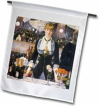 3drose FL _ 127338_ 1A Bar at the Folies von Edouard Manet Garten Flagge, 12von 18