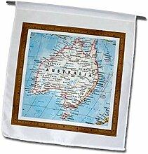 3dRose FL_130351_1 Moderne Karte von Australien