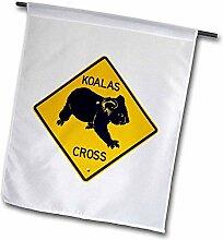 3dRose FL_133384_2 Koala Crossing Warnschild,