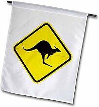3dRose FL_133388_2 Känguru-Warnschild, Australien