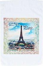 3dRose FL_163388_1 Bild Eiffelturm auf antikem