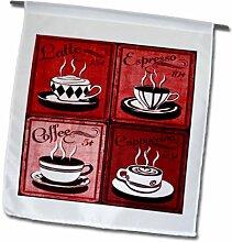 3dRose FL_163699_1 Bild Kaffee-Collage mit 4
