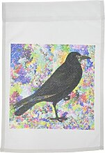 3drose FL _ 164134_ 1Crow in ein abstraktes Muster By angelandspot Garden Flagge, 12von 18