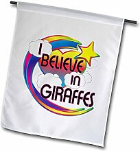3dRose FL 166522 _ 1 I Believe In Giraffen Cute