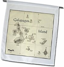 3dRose FL_174472_1 Bild Galapago-Inselkarte mit