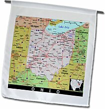 3dRose FL_174503_1 Bild der Karte von Ohio mit