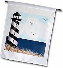 3dRose FL_182325_1 Gartenflagge Leuchtturm am