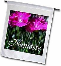 3dRose FL_183575_1 Bild von rosa Blumen mit Wort