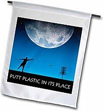 3dRose FL_18422_1 Putt Plastic in its Place 6