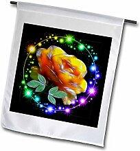 3drose FL _ 18505_ 1gelb rose mit Glitzer Garten Flagge, 12von 18