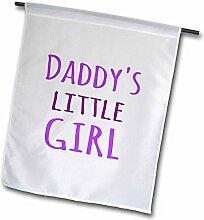 3drose FL _ 193723_ 1Daddy 's Little Girl Violett Text Fun Geschenke für Daddies Mädchen Garten Flagge, 12von 18