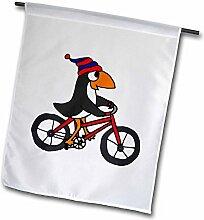 3dRose FL 196244_ 2,5cm Funny Penguin Riding