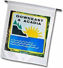 3dRose FL, 22Garten Flagge