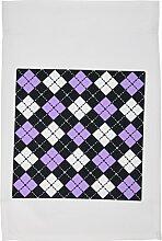 3drose FL _ 20417_ 1lila schwarz weiß Argyle Design Garten Flagge, 12von 18