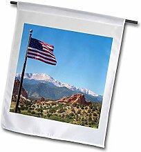 3dRose FL 206803_ 5,1cm USA Colorado Garten