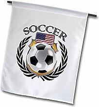 3dRose FL 239682_ 11Garten Flagge