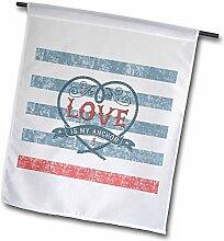 3dRose FL_266977_1 Flagge Love is My
