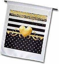 3dRose FL_274081_2 Bild von Glam Schwarz/Weiß mit