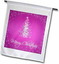 3drose FL _ 32487_ 1Weihnachten Karten mit Baum Pink Garden Flagge, 12von 18