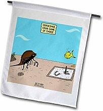 3dRose FL_33961_1 Out to Lunch Cartoon-Hufeisen,