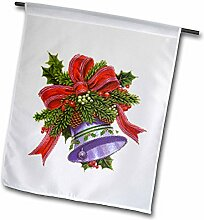 3drose FL _ 35817_ 1Weihnachten Bell mit Dekorationen Garten Flagge, 12von 18