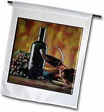3dRose FL_36496_1 Glas Wein in Napa Gartenflagge,