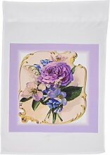 3drose FL _ 38923_ 1viktorianischen violett Blumen auf Pretty Hintergrund Garden Flagge, 12von 18