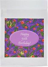 3drose FL _ 39558_ 1Wild violett 50. Geburtstag Design Garten Flagge, 12von 18