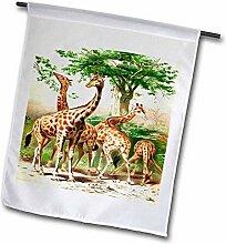 3dRose FL_44886_2 Gartenflagge Alte Malerei von