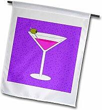 3dRose FL_57113_1 Gartenflagge, Martini, Glas,