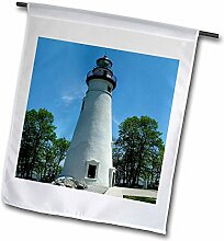 3dRose FL_61708_1 Marmorkopf-Leuchtturm mit Blick