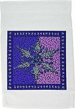 3drose FL _ 6227_ 1großen Schneeflocke Fliesen in blau und violett, Garten Flagge, 12von 18