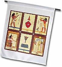 3drose FL _ 62344_ 1Antike Ägyptische Tarot Karten Garten Flagge, 12von 18
