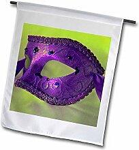 3drose FL _ 7020_ 1Masquerade in Antik violett Glitzer Garten Flagge, 12von 18