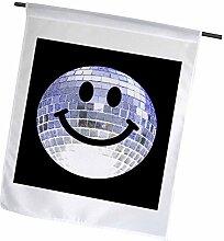 3dRose FL_76665_1 Discokugel mit Smiley-Gesicht,
