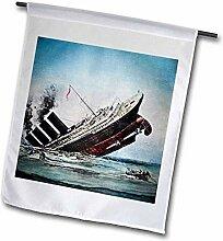 3dRose FL_77413_2 Titanic Sinking Magic Laterne