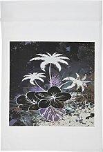3drose FL _ 78115_ 1violett und blau Hawaiian Flowers mit Palmen Garten Flagge, 12von 18