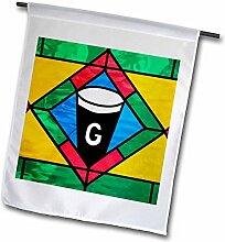 3drose FL _ 81970_ 1, Irland Cashel Glasfenster in einer Bar JAYNES Galerie Garten Flagge, 12von 18