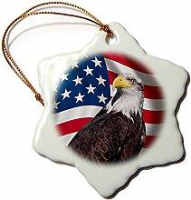 3dRose Flagge USA–Adler Design Sterne