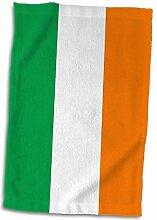 3dRose Flagge von Irland, Irish Green weiß orange