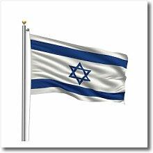 3dRose Flagge von Israel auf Einem Fahnenmast