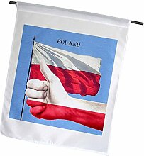 3dRose Flagge von Polen Leinwand Foto & Thumbs Up