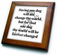 3dRose Fliese für Hundeliebhaber, gerahmt,