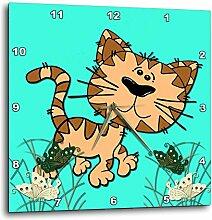 3dRose Funny Cat. Türkis. Kinder Decor. Cool