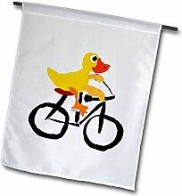 3dRose Funny gelb Ente Reiten Fahrrad Primitiv