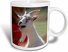 3dRose Funny Talking Goat Fotografie 11Oz Tasse,